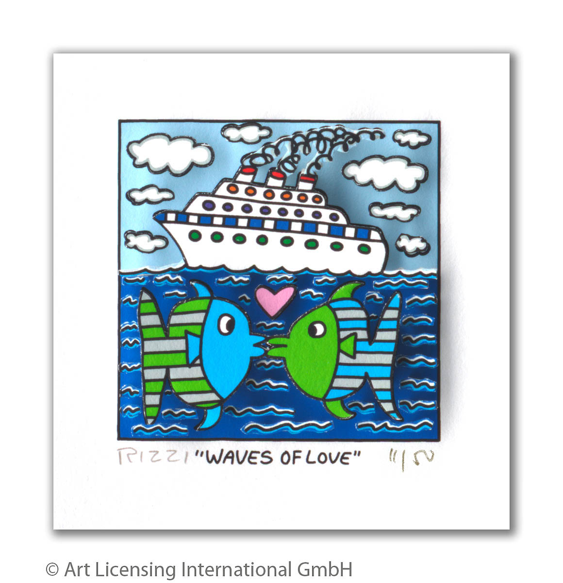 James Rizzi Waves of Love